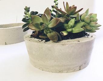 Round Handmade Cement Planter