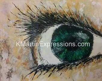 Open Eyes, Open Mind, Acrylic Painting Print, Modern Art, Original Painting Available