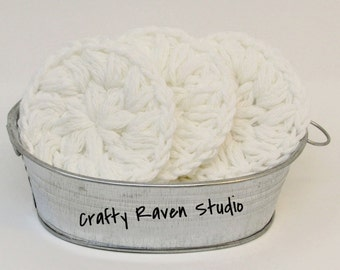Cotton Face Scrubby Puff, Eco-Friendly Scrubby  Set of 3
