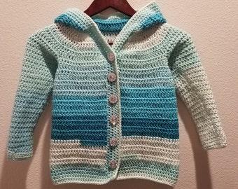 Ice Princess 7/8 Girls Sweater with Hood
