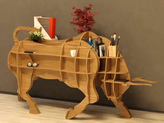 Bull Table 3d Modelanimals Cnc Decorationdecorative Art