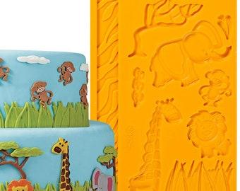 Wilton Fondant and Gum Paste Mould Jungle Animal