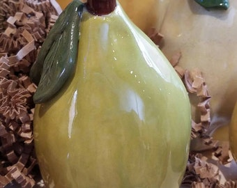 Pottery Pear, made to order