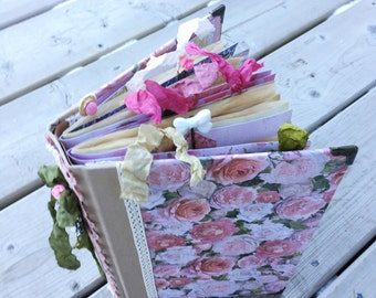 Vintage Rose Junk Journal / Altered Notebook