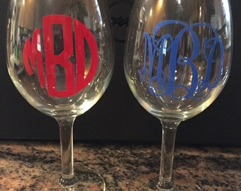 Personalized & engraved wine glasses