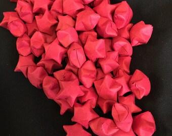 50 Dark Red Paper Stars