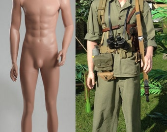Small Size Lifelike Military Male Caucasian Mannequin Model MDP13