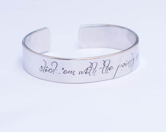 Stick 'Em With The Pointy End / Game Of Thrones Jewelry / Game Of Thrones Gift / Arya Stark / Jon Snow / Game Of Thrones Bracelet