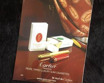 Cartier Cigarettes Advertisement 1980s Retro Magazine Ad