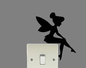 Tinkerbell Fairy wall art light switch decal sticker
