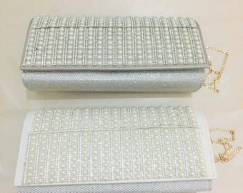 Ivory & Silver Wedding Bridal Bag, Special occasions.