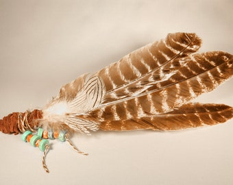 Smudging feathers