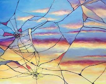 Broken Mirror Sunset print