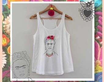 Embroidered Frida's tank