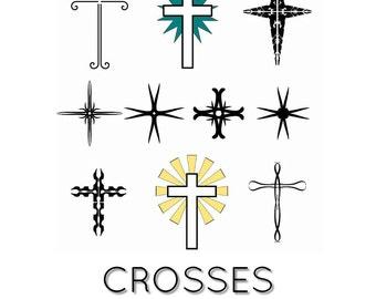 Clipart - Crosses - Digital download