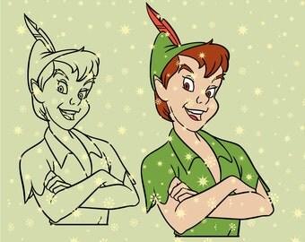 Disney Peter Pan SVG cutting ESP vector instant download