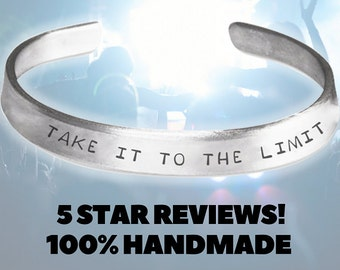 Take It To The Limit - The Eagles - Don Henley Handmade Aluminum Bracelet - The Eagles Clothing - The Eagles Gifts - The Eagles Bracelet