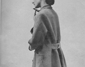 1950s Back-Belted Topper