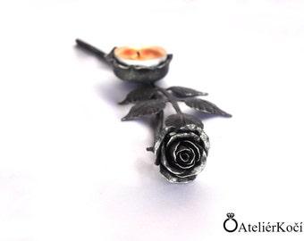 Original forged candlestick - rose