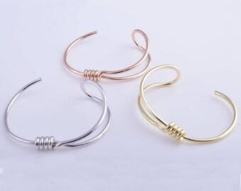 Knot bracelet, tie the knot bracelet, gold knot bracelet, rose gold knot bracelet, silver knot bracelet, bridesmaid knot bracelet.