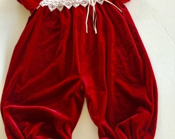 Youngland vintage velvet girls 12 months