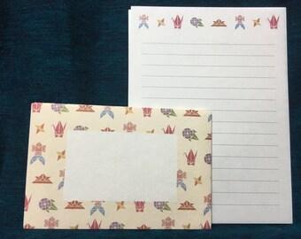Japanese washi Letter Set - Origami Stationery