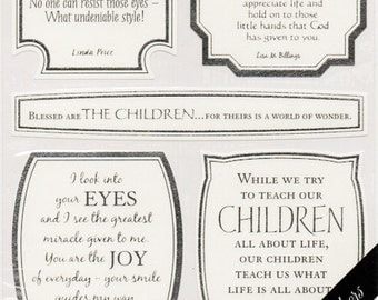 Children Vellum Quotes  Sticko  Scrapbook Stickers Embellishments Cardmaking Crafts