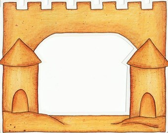 SandCastle Cardstock Frame My Mind's Eye Frame Up's Scrapbook  Embellishments Cardmaking Crafts