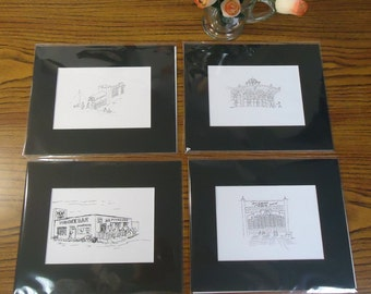 Asbury Park, New Jersey Set of 4 Unframed Prints