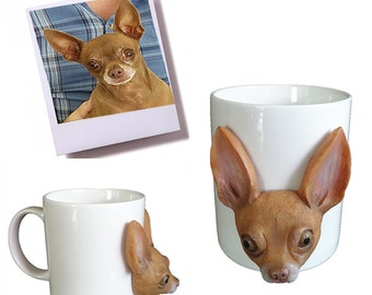 custom sculpted mugs, made to look like your photo