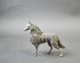 Wolf ,black wolf ,wolf figurine ,wolf statuette ,wolf sculpture