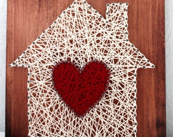 Home is where the heart is- String Art