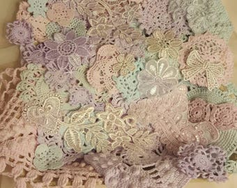 Pastel Doily and applique bundle
