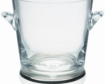 """Silver and Crystal - Large WINE COOLER / ice bucket - 7 1/2""""- boxed"""