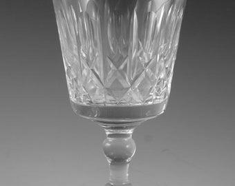 "Thomas WEBB Crystal - KINGSWINFORD Cut - Wine Glass / Glasses - 5"""