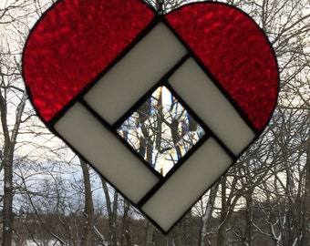Heart Suncatcher, Stained Glass