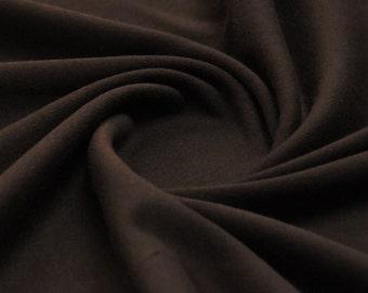 Plain 100% Cotton Woven Fabric Per meter - Chocolate