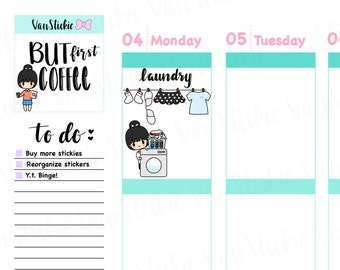 Chibits - Laundry Day Planner Sticker Set