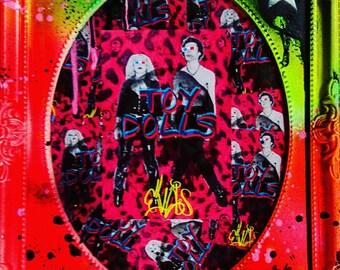 Original Art  -  Spray paint Frame  - Sid n Nancy