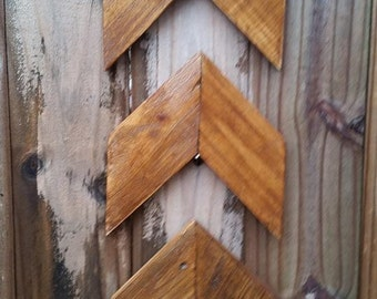 Chevron Arrows Set of 3, Chevron Wooden Arrows, Stained Arrows, Stained Chevrons, Stained Wall Decor, Rustic Arrow, Wood Arrows