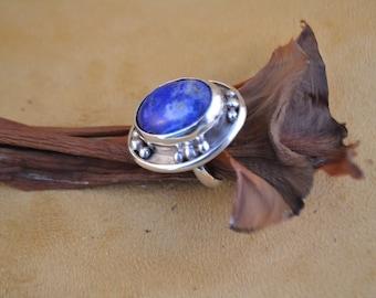 Lapis Lazuli Oval Shape Ring