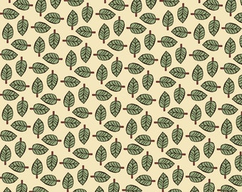 leaf fabric, leaves, botanical fabric, Quilting Fabric  inprint Jane Makower , 100% cotton,  curtain fabric, foliage fabric, yellow, green
