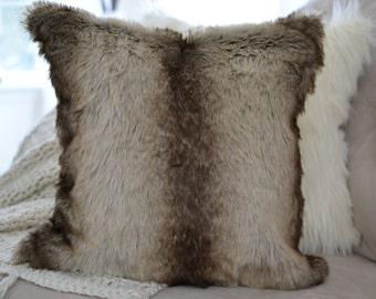 Faux Chinchilla Fur Pillow Cover