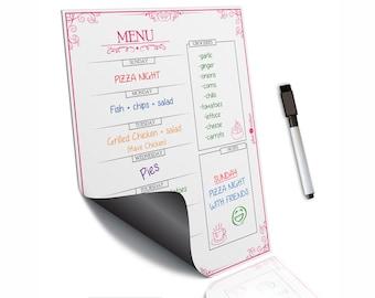 Weekly menu planning~Daily meal planner~Weekly meal planner~Daily menu planner~Magnetic menu board