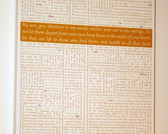 Canvas Word Art Bible Phrases