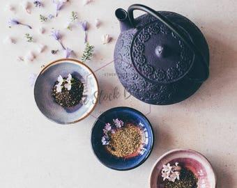 SALE! Instagram Photo, Pinterest Image, Flowers, Loose Leaf Teapot, Healthy Lifestyle, Instant Download Stock Photo For Blogs & Social Media