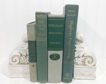 Green Decorative Book Set