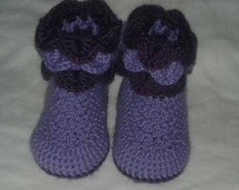 Scales crochet boots