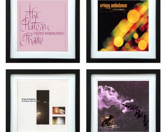Crispy Ambulance - Framed Album Art - Set of 4 Images