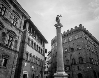 Florence, Italy Print, Black and White, Renaissance, Cityscape, Florence Wall Art, Florence Print, Italy Photography, Florence Italy Print